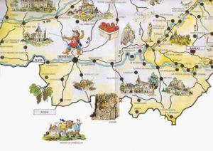 Bel Air de Rosette - Carte touristique Bergerac