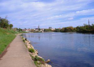 Bel Air de Rosette - Bergerac depuis les bords de Dordogne